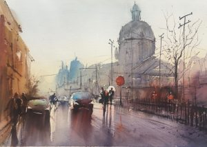Rainy Day, watercolor Stefan Gadnell